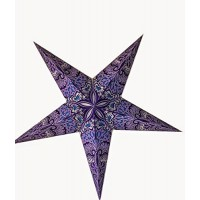 5 Point Screen Printed Christmas X'mas Star -- 60 cms - Blue