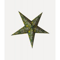 5 Point Screen Printed Christmas X'mas Star -- 60 cms - Green
