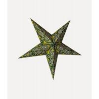 5 Point Screen Printed Christmas X'mas Star -- 60 cms - Green