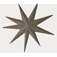 9 Point (Miniature Stars Zari Printed) MEGA Christmas X'mas Star -- 110 cms - White