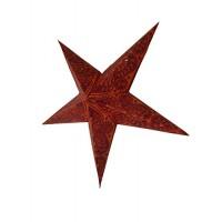 5 Point Screen Printed Christmas X'mas Star -- 60 cms - Orange