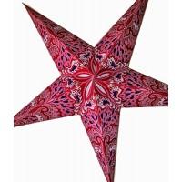 5 Point Screen Printed Christmas X'mas Star -- 60 cms - Pink