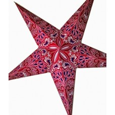 5 Point Screen Printed Christmas X'mas Star -- 60 cms - Pink