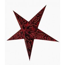 5 Point Screen Printed Christmas X'mas Star -- 60 cms - Red