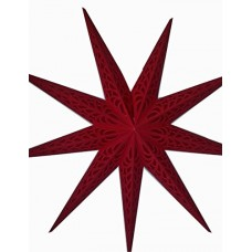 9 Point (Red Tissue Screen) Christmas X'mas Star -- 110 cms - Solid Red